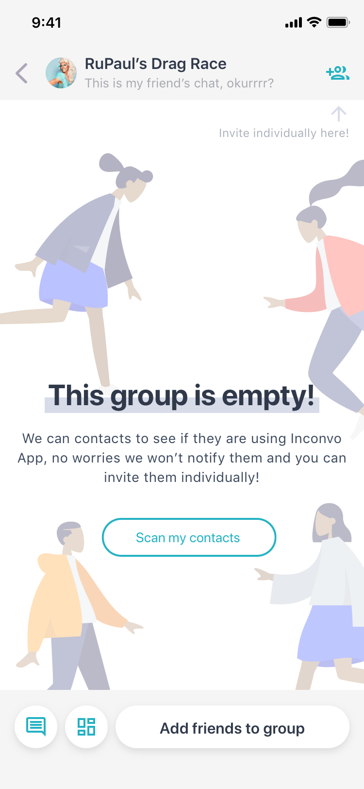 04a.GroupChat-EmptyGroup