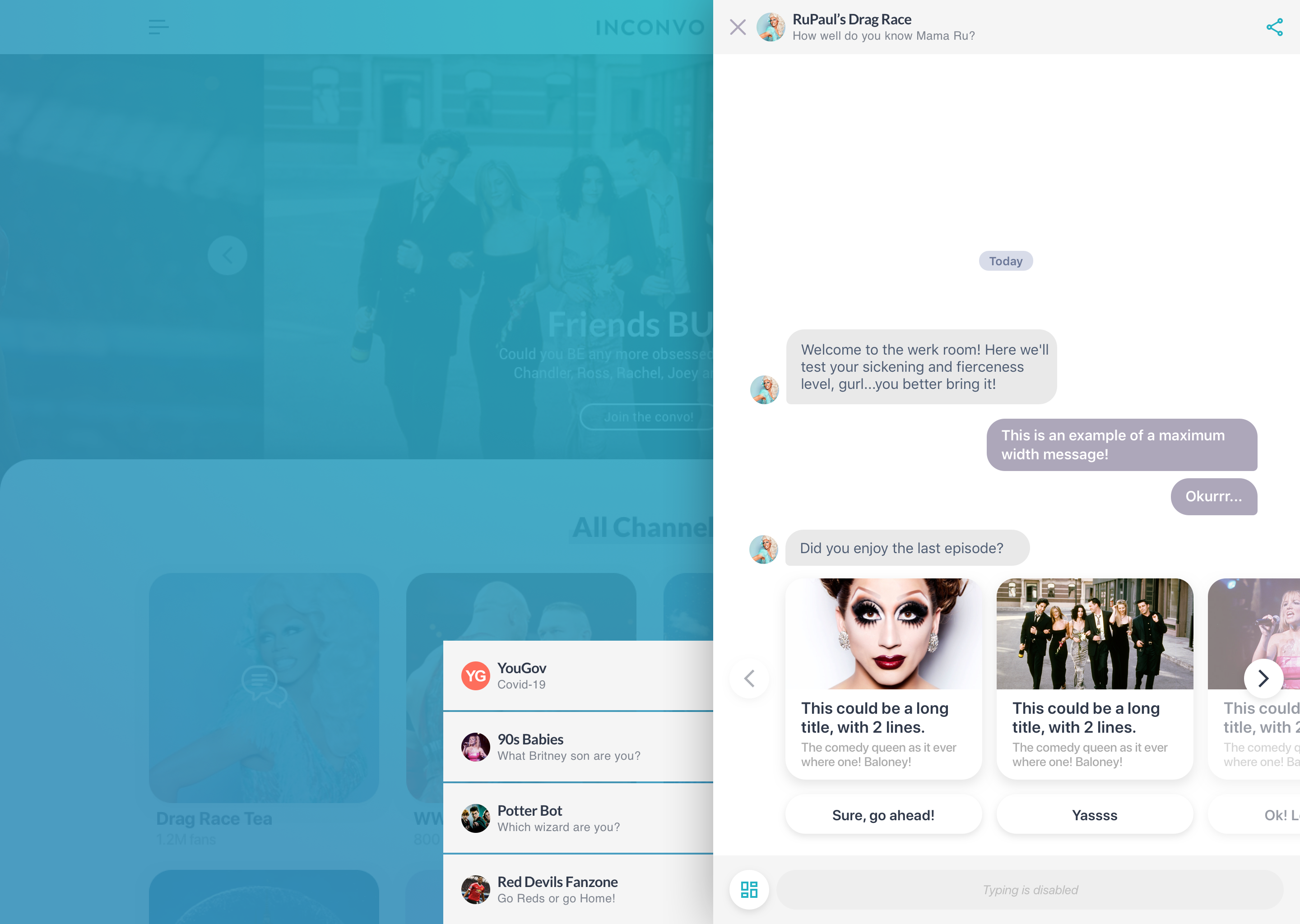 Chat view - Multiple